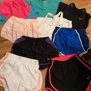 Nike Dri Fit Shorts and Tops Lot of 9 XS Bundle